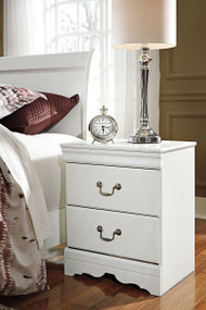 Anarasia White Two Drawer Night Stand
