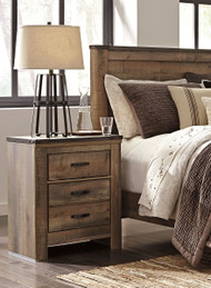 Trinell Brown Two Drawer Night Stand