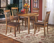 Berringer 5 Pc. Round Dining Room Drop Leaf Table & 4 Upholstered Side Chairs