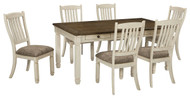Bolanburg Antique White 7 Pc. Rectangular Dining Room Table & 6 Upholstered Side Chairs