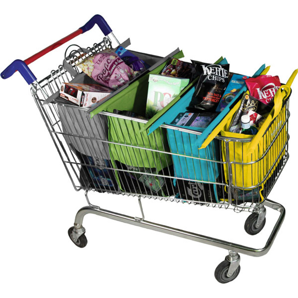 Trolley Bags Original fully packed with groceries.