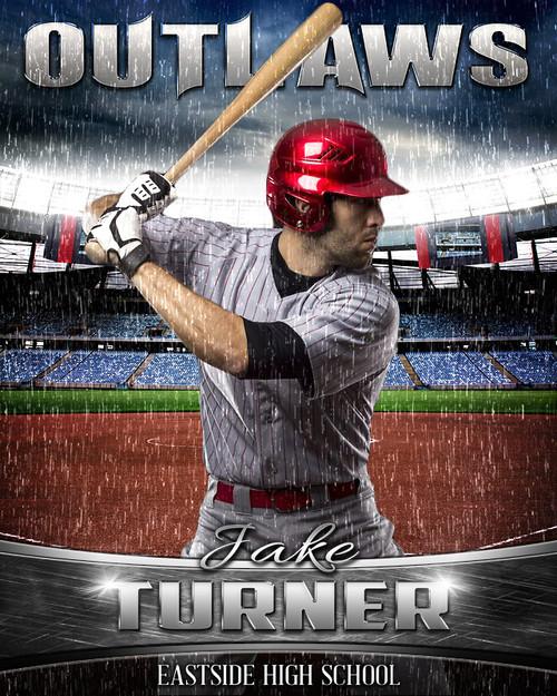 baseball poster photo template