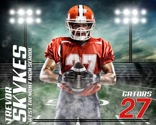 sports team photography templates - sports photography template football at dusk