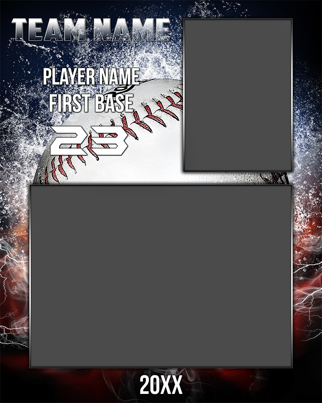 baseball memory mate photo template splash series. Black Bedroom Furniture Sets. Home Design Ideas