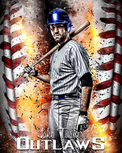 Sports poster photo template for baseball baseball inferno for Sports team photography templates