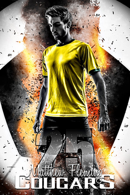 player banner sports photo template