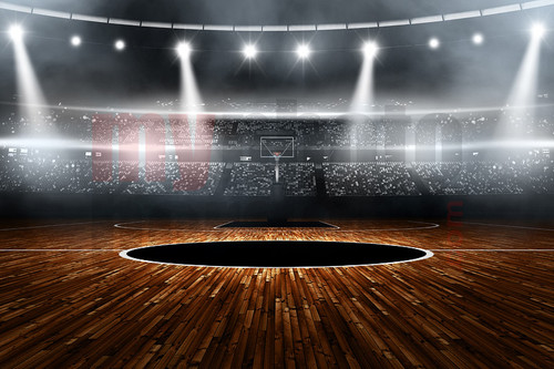Digital Sports Background Basketball Stadium Horizontal