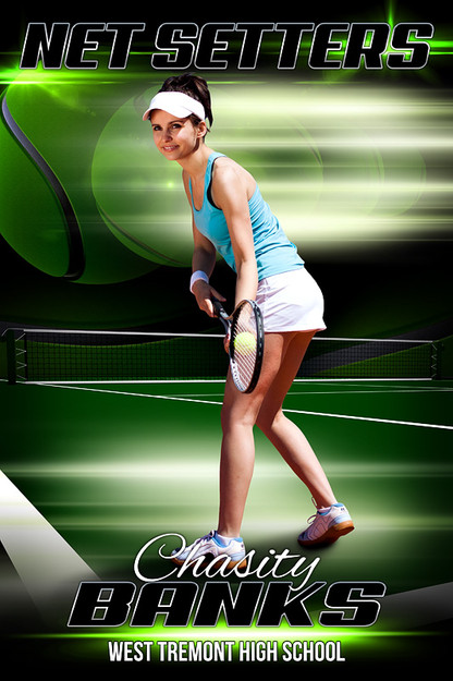 sports team photography templates - player banner sports photo template tennis