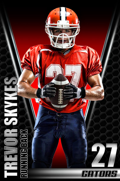 Player banner sports photo template honeycomb for Sports team photography templates