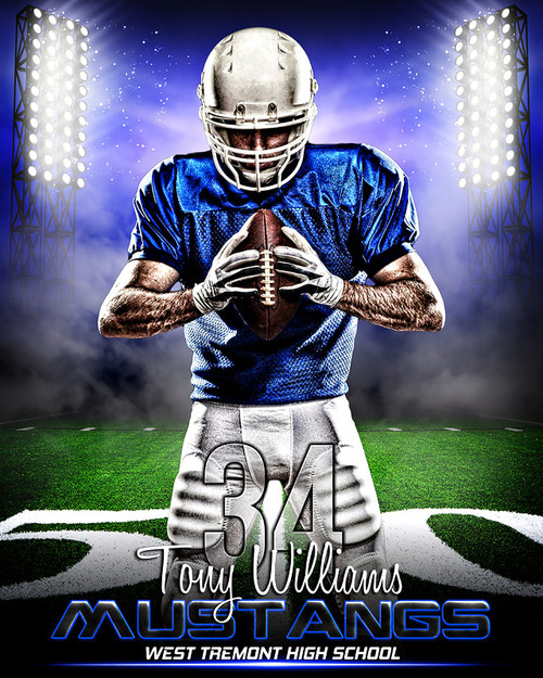 Sports poster photo template for football prime time for Sports team photography templates