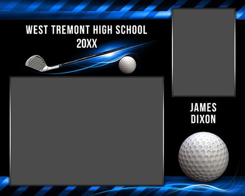 golf memory mate photo template