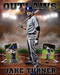 BASEBALL - UP IN SMOKE - 16x20 PHOTO COLLAGE - LAYERED PHOTOSHOP SPORTS TEMPLATE