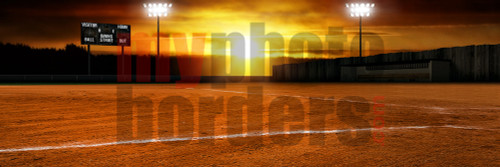 DIGITAL BACKGROUND - BALL FIELD - PANORAMIC
