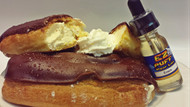 Chocolate glazed Eclairs filled with fresh Bavarian Crème will have you coming back for more!  Perfect as your all-day vape or with a fresh hot cup of coffee!