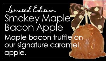 Smokey Maple Bacon Caramel Apple