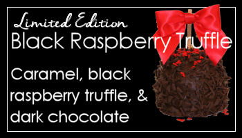Black raspberry Truffle Caramel Apple