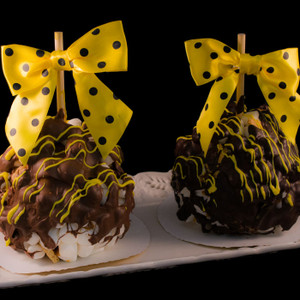 Apple S'Mores Caramel Apple from DeBrito Chocolate Factory.