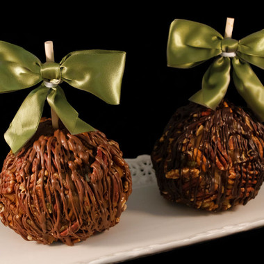 Pecan Turtle Caramel Apple from DeBrito Chocolate Factory