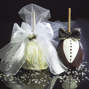 Bride and Groom Caramel Apples from DeBrito Chocolate Factory