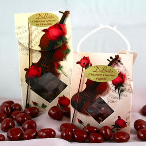 4 oz. box filled with your choice of toffee, chocolate apricots, or chocolate cherries.