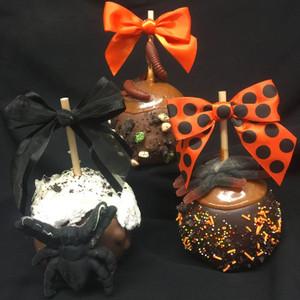 Halloween Creepy Crawlers Caramel Apple from DeBrito Chocolate Factory