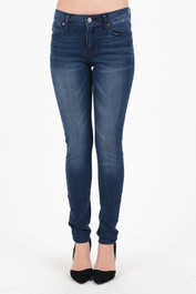 High Waisted Dark Wash Skinnies