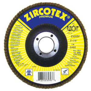 "ZIRCOTEX by Flexovit Z5005F 5""x7/8"" ZA60 FIBERGLASS BACKING PLATE  -  HIGH PRODUCTION Flap Disc"