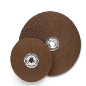"HIGH PERFORMANCE by Flexovit 32277 4-1/2""x5/8- 11 QUICK-SPIN A36  -  HEAVY DUTY Resin Fiber Disc"