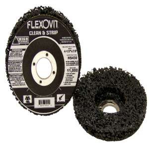 "HIGH PERFORMANCE by Flexovit HS450 4-1/2""x7/8"" Extra Coarse Black Clean and Strip Disc"