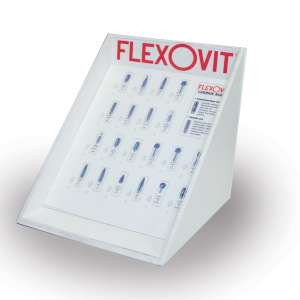 HIGH PERFORMANCE by Flexovit VZDC40 DISPLAY CASE FOR CARBIDE BURS Counter Top Display LOCKABLE Bur Display Case