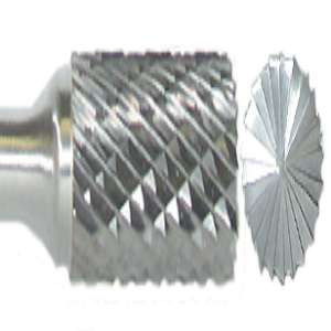 "HIGH PERFORMANCE by Flexovit VB15M2 1/4""x5/8""x1/4"" SHANK CYLINDER W/ END CUT DOUBLE CUT Carbide Bur"