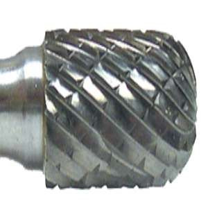 "HIGH PERFORMANCE by Flexovit VC12L1 1/8""x9/16""x1/8"" SHANK BALL NOSE CYLINDER DOUBLE CUT Carbide Bur"