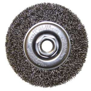 "HIGH PERFORMANCE by Flexovit C1840 4""x1/2""x5/8-11 .014 CARBON CRIMPED Wire Wheel Brush for Angle Grinders"