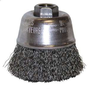 "HIGH PERFORMANCE by Flexovit C1690P 2-3/4""x5/8-11 .014 CARBON CRIMPED Wire Cup Brush/Clamshell"