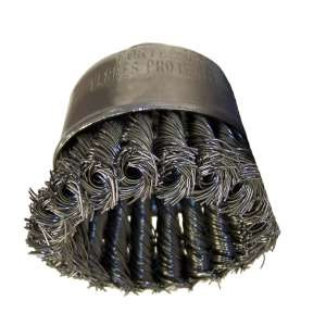 "HIGH PERFORMANCE by Flexovit C1480 2-3/4""x5/8-11 .020 CARBON KNOTTED Wire Cup Brush"