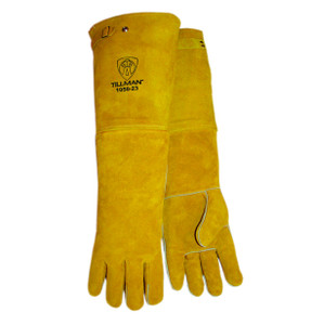 "Tillman 1050-23 23"" Length Lined Premium Side Split Cowhide Welding Gloves"