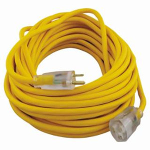 50 FT. INDOOR/OUTDOOR 12/3 EXTENSION CORD, YELLOW