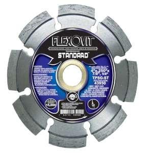 """Flexovit 43950 4""""x.250""""x7/8"""",5/8"""" TPSG-ST DRY/WET CUT SEGMENTED- STANDARD Tuck Point Diamond Blade"""