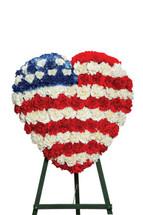 Patriotic Heart Standing Spray