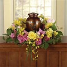 Yellow & Pink Memorial Wreath