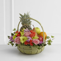 TheRest in Peace Fruit & Flowers Basket