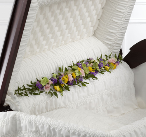 The Trail of Flowers Casket Adornment
