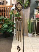 "Bronze Wind Chime 35"" Sayings vary. (LOCAL DELIVERY ONLY) Stand not included"