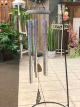 """Wind Chime 44"""" with Verse. Sayings vary. (LOCAL DELIVERY ONLY) Stand not included"""
