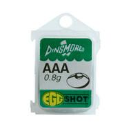 Dinsmores Green-Cushioned Egg Tin Split Shot (Refills)