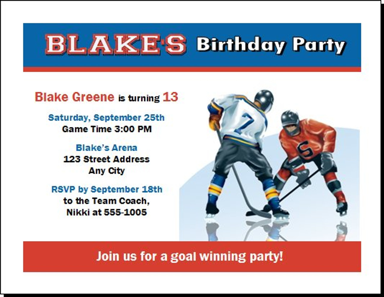 Players Birthday Party Invitation