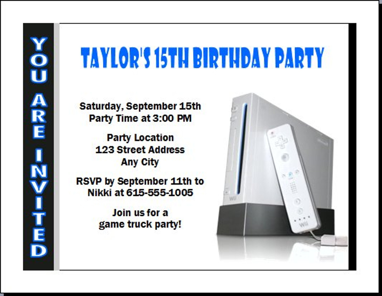 video game birthday party invitation - Video Game Party Invitations