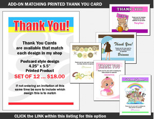 Printed Thank You Card Add-On