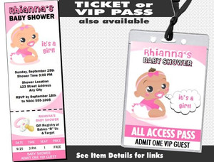 Baby Girl Pink Baby Shower Invitation Other Styles