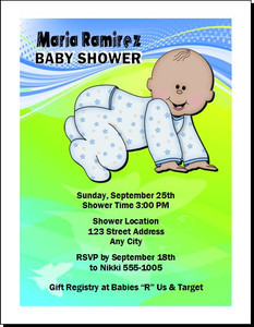 Bebe Muchacho Baby Shower Invitation